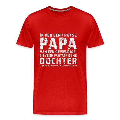 Trotse Papa - Mannen Premium T-shirt