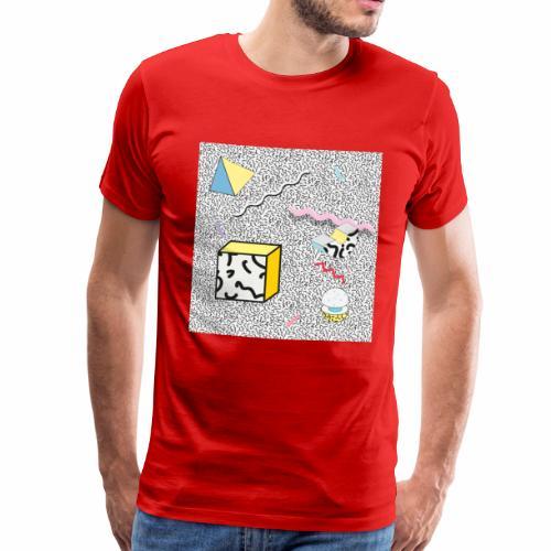 memphis design, Retro, Vintage, 80er Jahre - Männer Premium T-Shirt