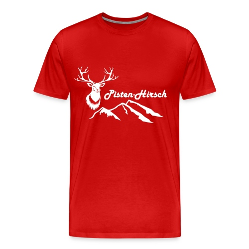 Pisten-Hirsch (Hirschkopf detailliert) - Männer Premium T-Shirt