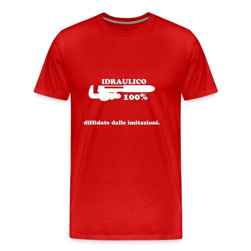 Idraulico 100% Logo XL BIANCO - Maglietta Premium da uomo