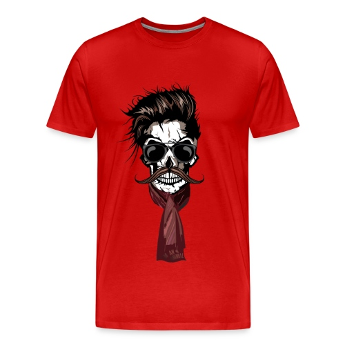 tete de mort hipster crane foulard echarpe skull m - T-shirt Premium Homme de3de079f58