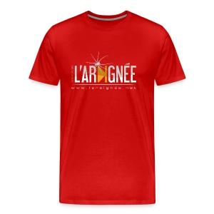 L'Araignée, le logo clair pour fond foncés - T-shirt Premium Homme