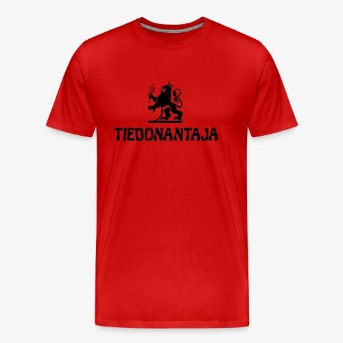 HS Tiedonantaja - Miesten premium t-paita