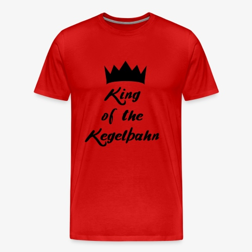 King of the Kegelbahn - Männer Premium T-Shirt