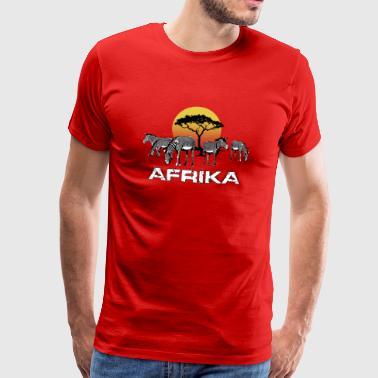 Seeprat AFRIKA Steppe puhdasta romantiikkaa auringonlasku - Miesten premium t-paita