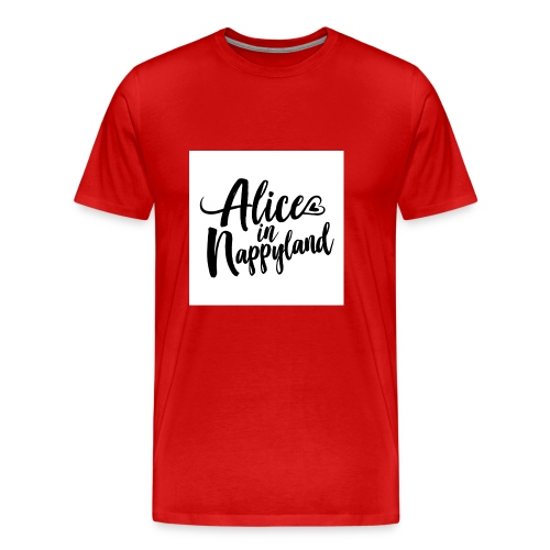 Alice in Nappyland Typography Black 1080 1 - Men's Premium T-Shirt