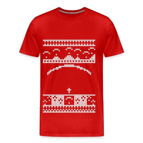 Paragliding Christmas Jumper - Men's Premium T-Shirt