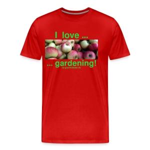 Äpfel - I love gardening! - Männer Premium T-Shirt