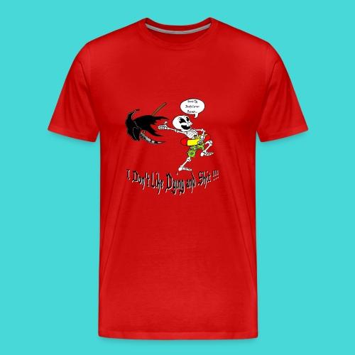 Happy Living Skeleton - Mannen Premium T-shirt