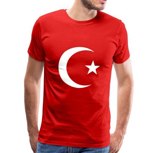 E 0013 Halmmond und Stern Türkei Flagge - Männer Premium T-Shirt