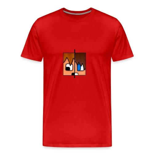 To Menn, Ett Hode (Mann) - Premium T-skjorte for menn