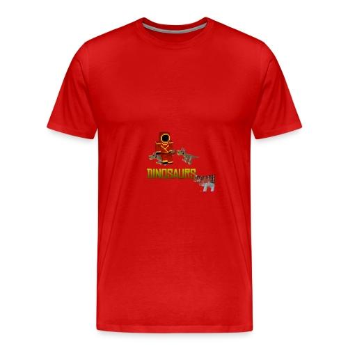 Minecraft Dinosaurs T-shirt - Mannen Premium T-shirt