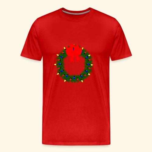 The christmas wreath - Men's Premium T-Shirt