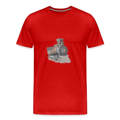 steam locomotive - Herre premium T-shirt