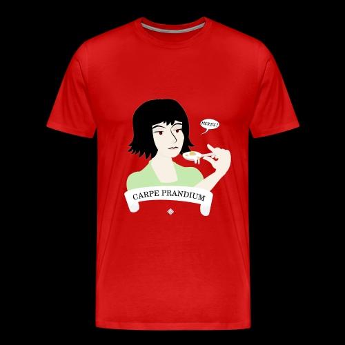 Carpe Prandium - Premium-T-shirt herr