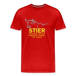 Stier Strich Text Gelb - Männer Premium T-Shirt
