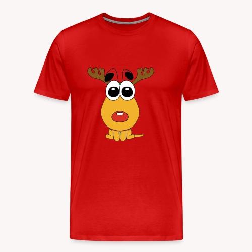 Sansone vestito da renna di Babbo Natale - Maglietta Premium da uomo