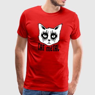 katt metall - Premium-T-shirt herr