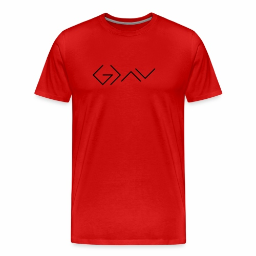 God is greater than the highs and lows. - Männer Premium T-Shirt