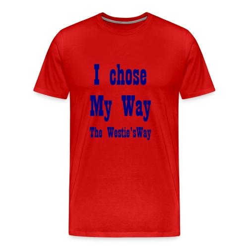 I chose My Way Navy - Men's Premium T-Shirt