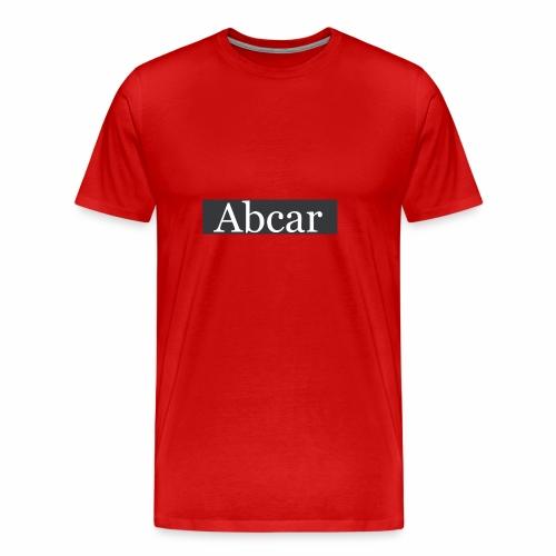 abcar zwarte box logo - Mannen Premium T-shirt