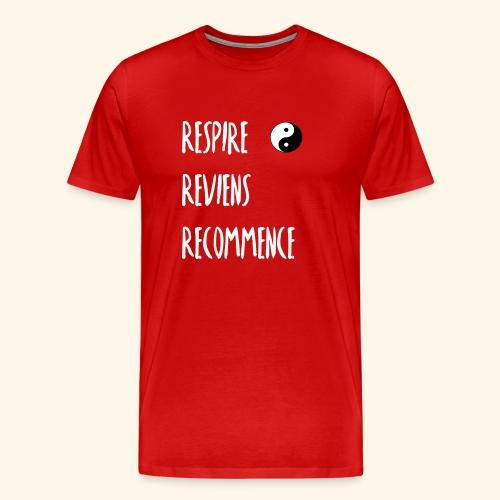 La respiration : l'essence de la vie - T-shirt Premium Homme