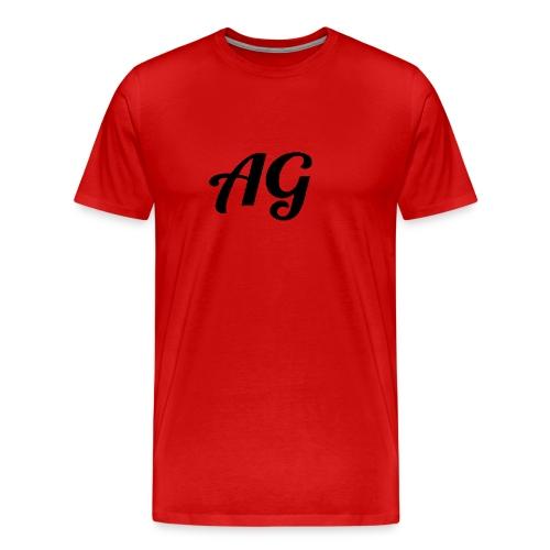 Zwarte Letters - Mannen Premium T-shirt