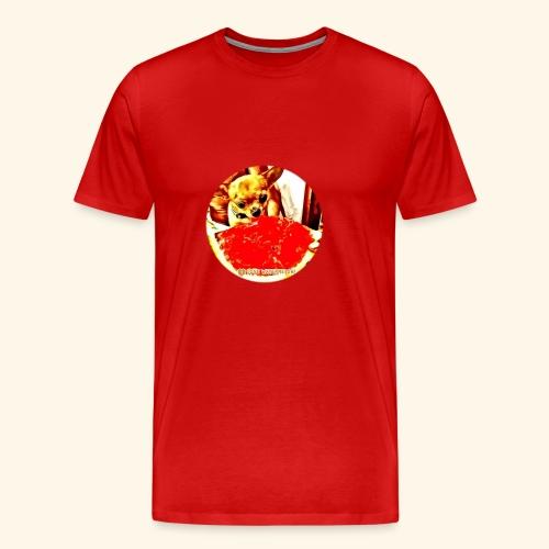 I Chihuahua amano il cocomero... e anche Zoe! - Maglietta Premium da uomo