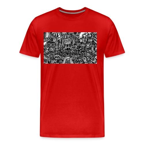 weird drawings - Mannen Premium T-shirt