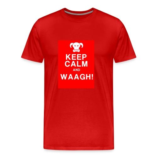 Keep Calm and Waagh! - Herre premium T-shirt