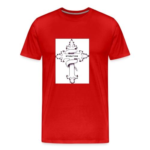 nyknation cross - T-shirt Premium Homme