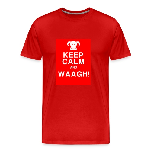 Keep Calm and Waagh! - Herre premium T-shirt