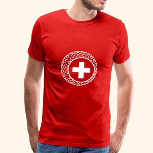 Schweiz ☆ T-Shirt ☆ geometric ☆ Kreuz - Männer Premium T-Shirt