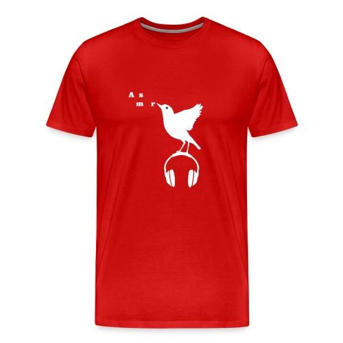 Valkoinen Asmr-lintu ilman tekstiä - Miesten premium t-paita