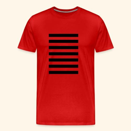 White Lands Streifen Muster - Männer Premium T-Shirt