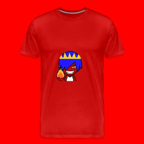 HeroCraftZ Holder en flamme - Premium T-skjorte for menn