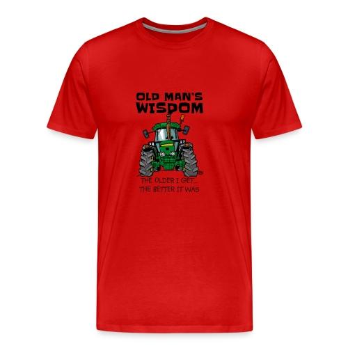 0169 oldmanswisdom JD4050 - Mannen Premium T-shirt