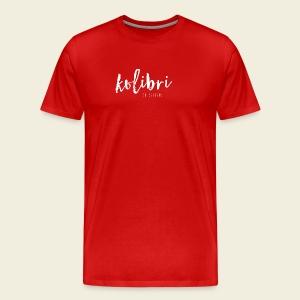 Logo Kolibri Design weiss - Männer Premium T-Shirt
