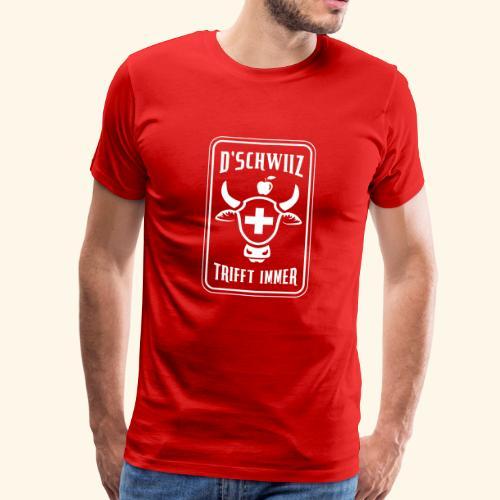 Schweizer Nati Trikot, Der goldene Schuss! - Männer Premium T-Shirt