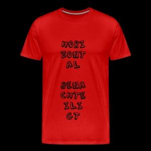 Horizontal benachteiligt - Männer Premium T-Shirt