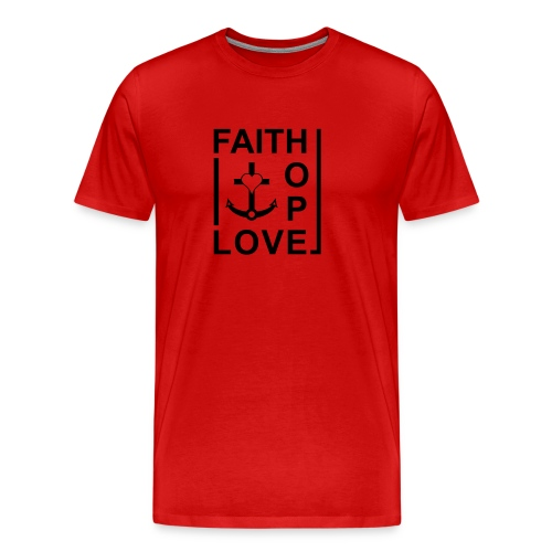 Faith, Love, Hope, mit Herz transparent - Männer Premium T-Shirt