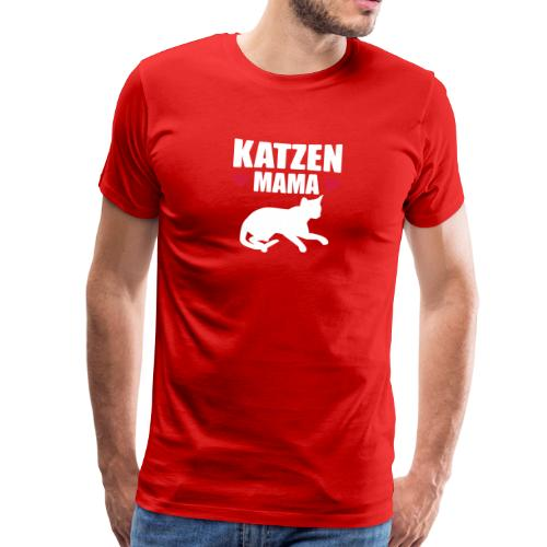 Katzen Mama - Cat Mom - Katze - Männer Premium T-Shirt