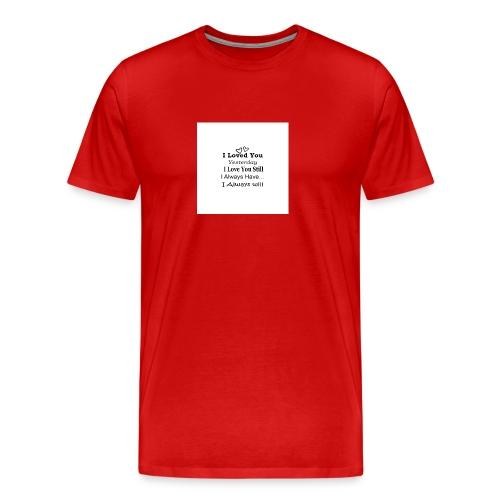 CITAT LOVE - Herre premium T-shirt