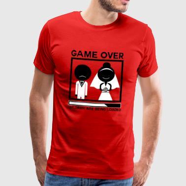 Heiraten Ehe game over Jungeselle - Männer Premium T-Shirt