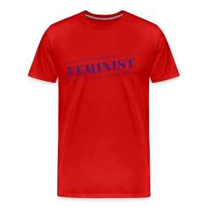 This what a feminist look - Premium T-skjorte for menn