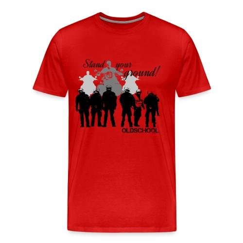 OLDSCHOOL Classic Stand your ground Biker - Männer Premium T-Shirt