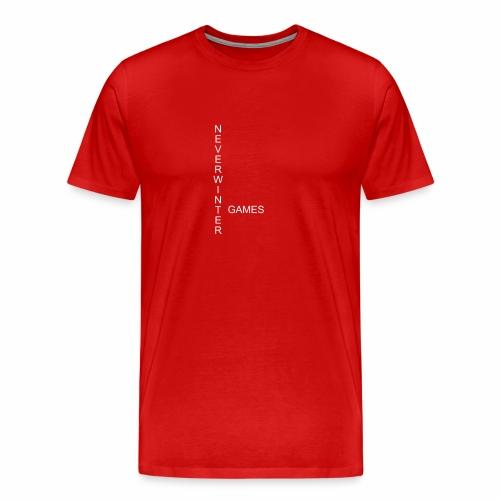 Neverwinter weiss Schrift Games T-Shirt - Männer Premium T-Shirt