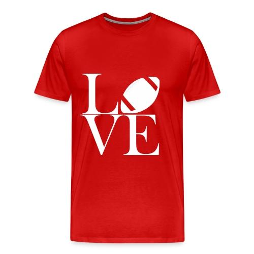 Love Symbol mit Football - Männer Premium T-Shirt