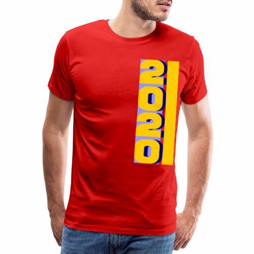 2020, vertical yellow blue - Men's Premium T-Shirt