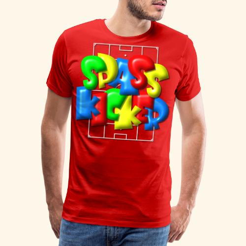 Spass Kicker im Fußballfeld - Balloon-Style - Männer Premium T-Shirt